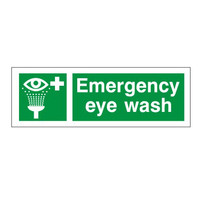 First Aid & Safety Equipment, First Aid Signs - Emergency Eye Wash Sign