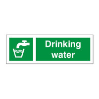 First Aid & Safety Equipment, First Aid Signs - Drinking Water Sign