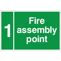 Fire Signs, Assembly Point Signs - Custom Assembly Point Sign D