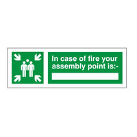 Fire Signs, Assembly Point Signs - Assembly Point Sign C
