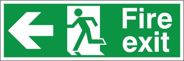 Fire Exit Arrow Left Sign Discount Fire Supplies