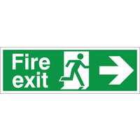 Fire Signs, Emergency Exit Signs - Fire Exit Arrow Right Sign