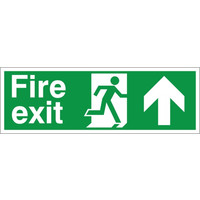 Fire Signs, Emergency Exit Signs - Fire Exit Arrow Up Sign
