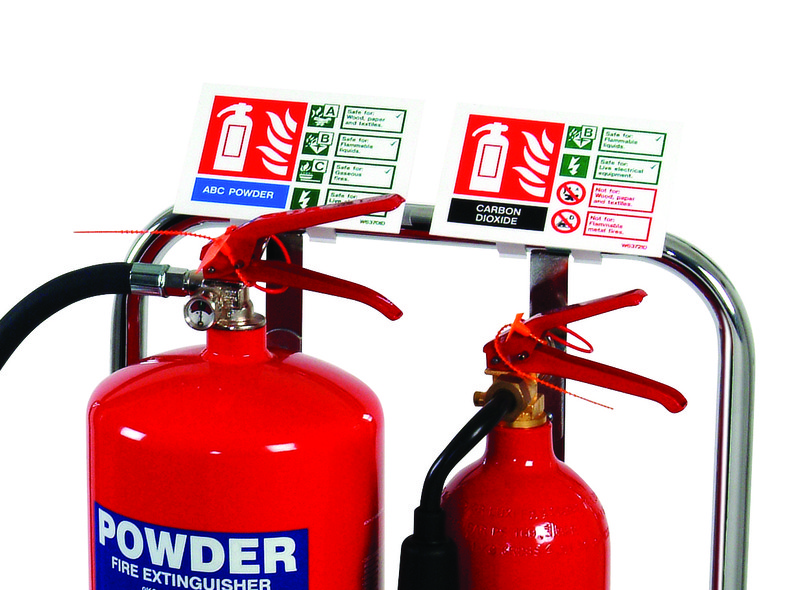 Extinguisher Sign Clip For Chrome Stands Discount Fire