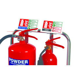 Extinguisher Sign Clip For Chrome Stands