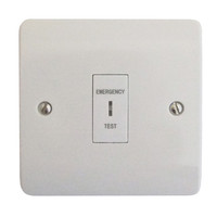 Emergency Lighting, Emergency Lighting Testing - Single Gang Emergency Lighting Test Switch