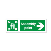 Fire Signs, Assembly Point Signs - Assembly Point Arrow Right Sign