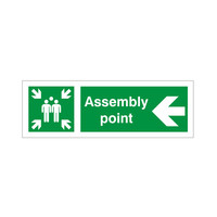 Fire Signs, Assembly Point Signs - Assembly Point Arrow Left Sign