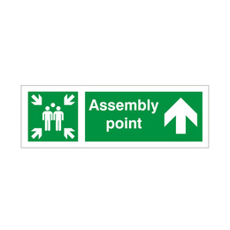 Assembly Point Arrow Up Sign