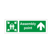 Fire Signs, Assembly Point Signs - Assembly Point Arrow Up Sign