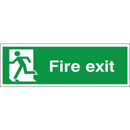 Fire Exit Sign (Running Man Left)