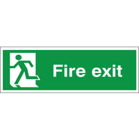Fire Signs, Emergency Exit Signs - Fire Exit Sign (Running Man Left)