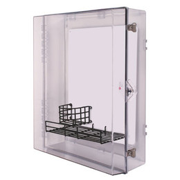 Extra Large AED Protective Cabinet with Backplate, Wire Shelf and Thumb Lock