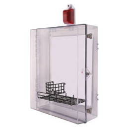 Extra Large AED Protective Cabinet with Alarm, Strobe, Backplate, Wire Shelf & Thumb Lock