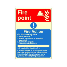 Photoluminescent Fire Action Sign E