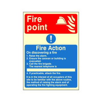 Fire Signs, Photoluminescent Fire Action Signs - Photoluminescent Fire Action Sign E