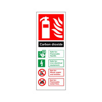 Fire Signs, Fire Extinguisher Signs - Carbon Dioxide Fire Extinguisher Sign