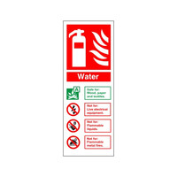 Fire Signs, Fire Extinguisher Signs - Water Fire Extinguisher Sign