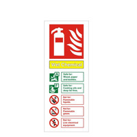 Fire Signs, Fire Extinguisher Signs - Wet Chemical Fire Extinguisher Sign