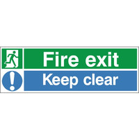 Fire Signs, Emergency Exit Signs - Fire Exit Keep Clear Sign