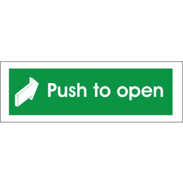 Fire Exit Push To Open Arrow Forward Sign