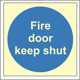 Photoluminescent Fire Door Keep Shut Sign