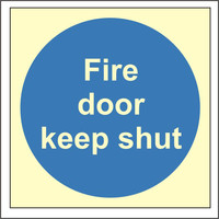 Fire Signs, Photoluminescent Fire Door Signs - Photoluminescent Fire Door Keep Shut Sign