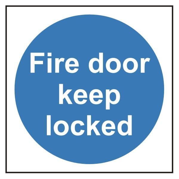 Fire Door Keep Locked Sign Discount Fire Supplies