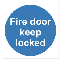 Fire Signs, Fire Door Signs - Fire Door Keep Locked Sign