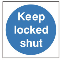 Fire Signs, Fire Door Signs - Keep Locked Shut Sign