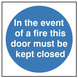 Fire Door In the Event Of A Fire Sign