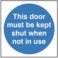 Fire Signs, Fire Door Signs - This Door Must Be Kept Shut Sign