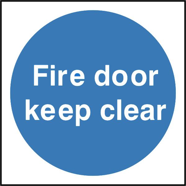 Fire Door Keep Clear Sign Discount Fire Supplies