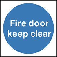 Fire Signs, Fire Door Signs - Fire Door Keep Clear Sign