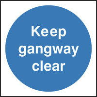 Fire Signs, Fire Door Signs - Keep Gangway Clear Sign