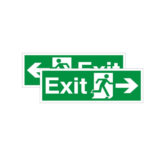 Double Sided Exit Sign Arrow Left Right Discount Fire