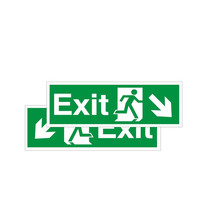 Fire Signs, Emergency Exit Signs - Double Sided Exit Sign Arrow Down Left/Right