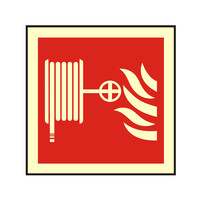 Fire Signs, Photoluminescent Fire Equipment Signs - Photoluminescent Hose Reel Sign