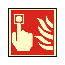 Photoluminescent Fire Alarm Call Point Sign