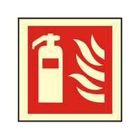 Fire Signs, Photoluminescent Fire Equipment Signs - Photoluminescent Fire Extinguisher Sign