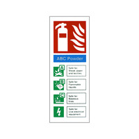 Fire Signs, Fire Extinguisher Signs - ABC Powder Fire Extinguisher Sign
