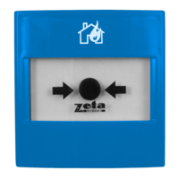 Fire Alarms, Automatic Extinguisher Systems, Premier EX Pro Automatic Extinguisher System, Premier EX Pro Manual Call Points - Zeta Gas Abort Blue Manual Call Point