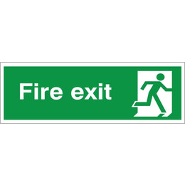 Fire Exit Sign (Running Man Right)