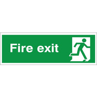 Fire Signs, Emergency Exit Signs - Fire Exit Sign (Running Man Right)