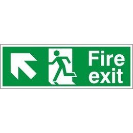 Fire Exit Arrow Left/Up Sign
