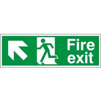 Fire Signs, Emergency Exit Signs - Fire Exit Arrow Left/Up Sign