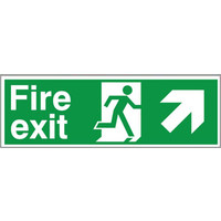 Fire Signs, Emergency Exit Signs - Fire Exit Arrow Right/Up Sign