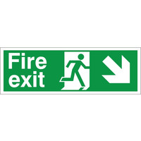 Fire Signs, Emergency Exit Signs - Fire Exit Arrow Right/Down Sign