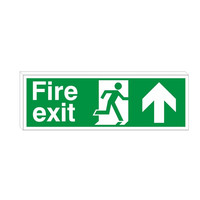 Fire Signs, Emergency Exit Signs - Double Sided  Fire Exit Sign Arrow Up