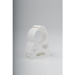 White Pipe Clip 25mm